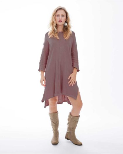 'Electra' Cotton Knit Dress – Bark (Bk)