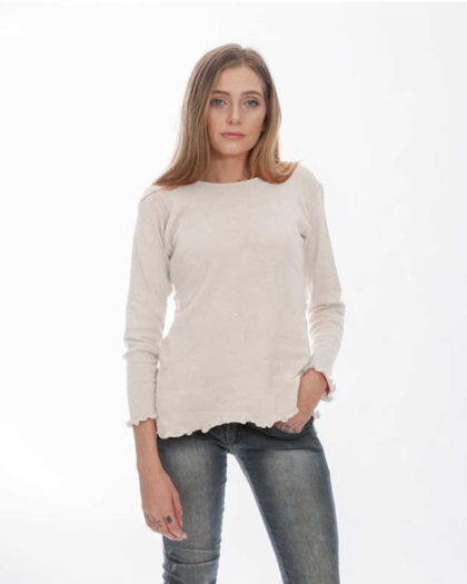 'Isis' Cotton Knit Sweater – Au Naturale (AN)