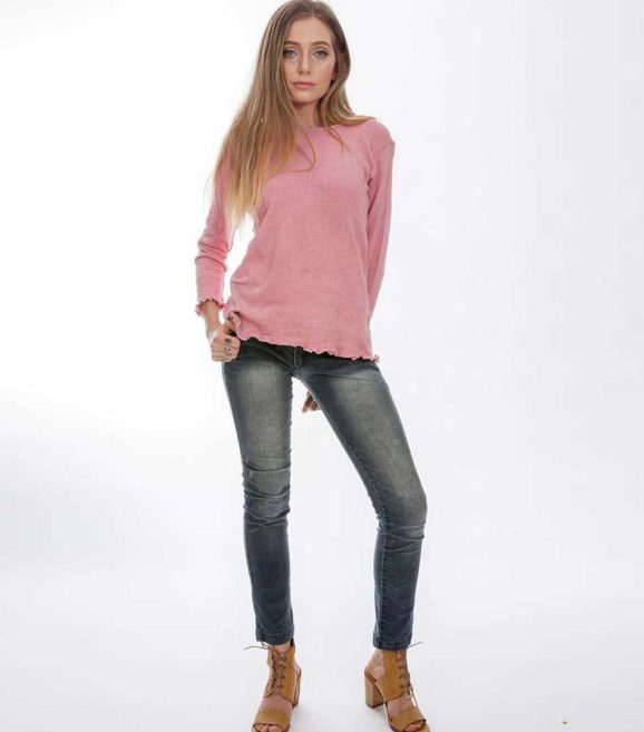 'Isis' Cotton Knit Sweater Grevillea