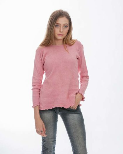 'Isis' Cotton Knit Sweater – Grevillea (G)