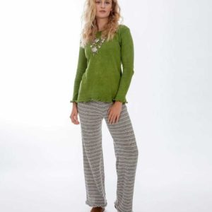 'Lou Lou's' Long Pants Neutral Strip