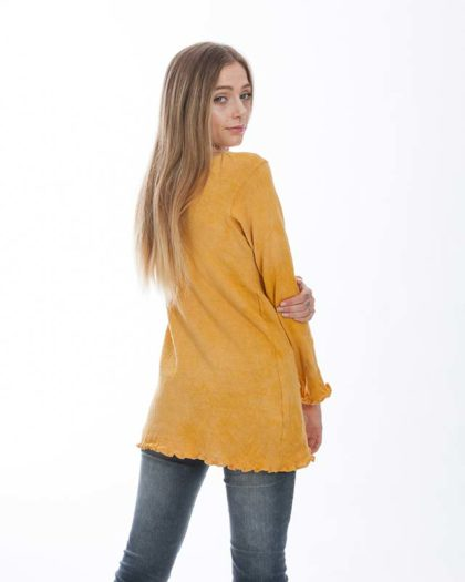 'Isis' Cotton Knit Sweater – Acacia (A)