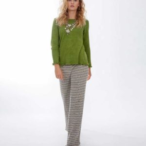 'Lou Lous' Long Pants Neutral Stripe