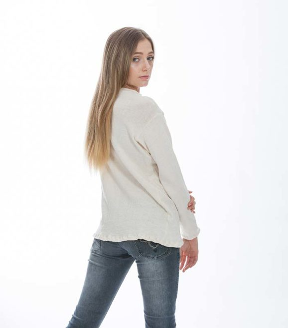 'Radha' Cotton Knit Boy Sweater Au Naturale
