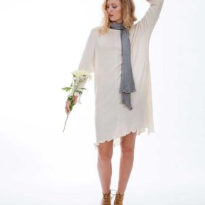 'Astara' Light Knit Dress Au Naturale