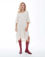 'Electra' Cotton Knit Dress – Au Naturale (AN)