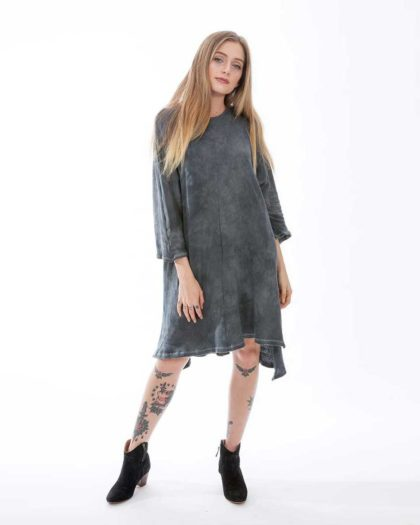 'Electra' Cotton Knit Dress – Slate (Sl)