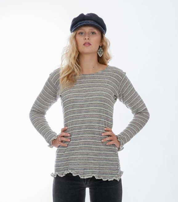 'Shekina' Sweater Neutral Stripe